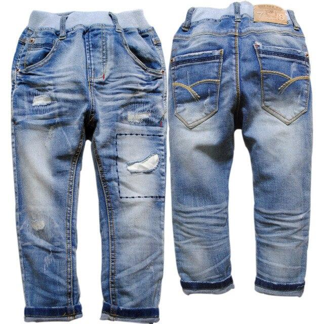 3909 мягкие джинсовые брюки Детей для мальчиков джинсы дети брюки весна осень повседневные брюки брюки детская одежда