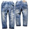 3909 calças jeans macios Crianças meninos de jeans crianças calças primavera outono calça casual calças calças de roupas infantis