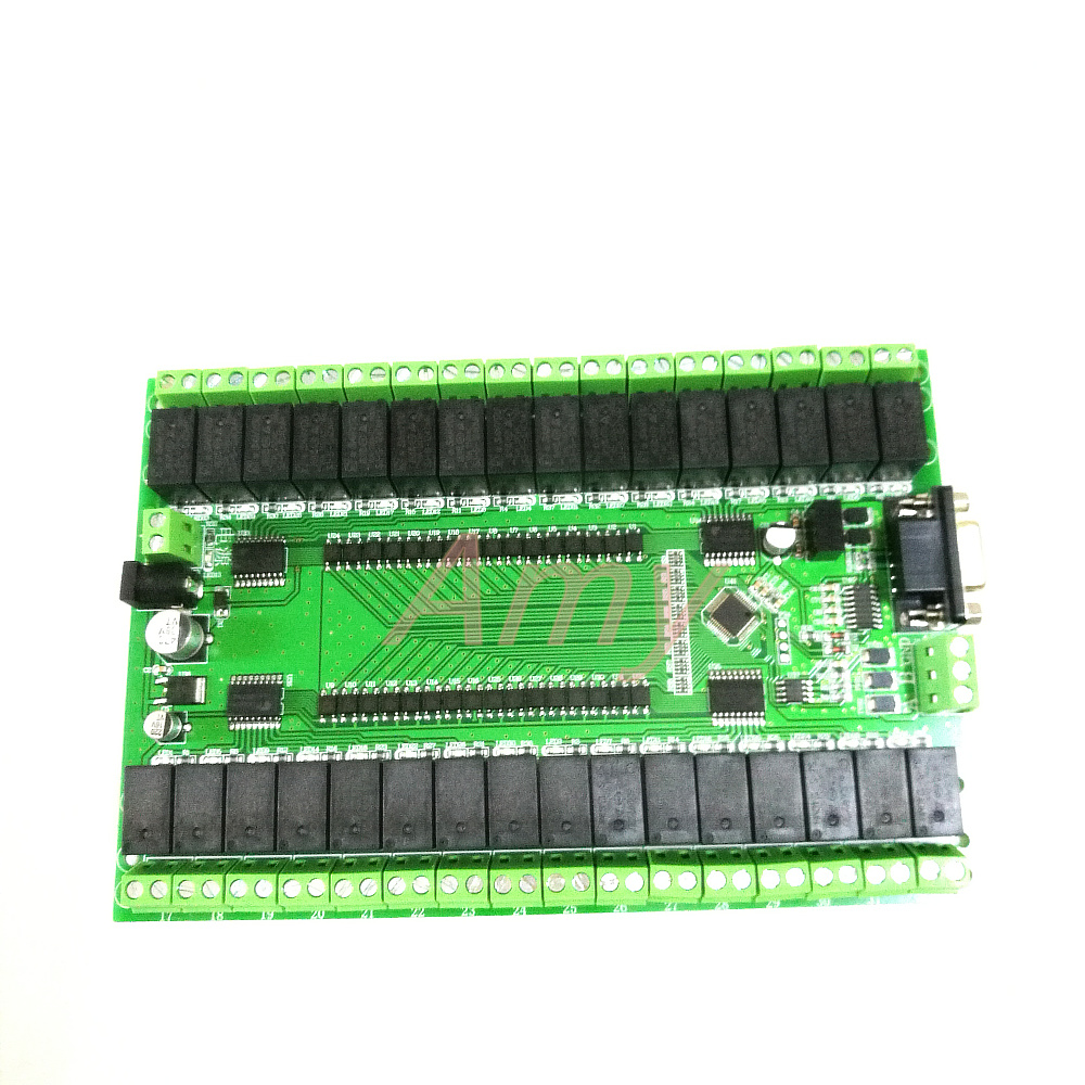 Free shipping RS232/RS485 serial port control <font><b>32</b></font> <font><b>relay</b></font> <font><b>module</b></font> control switch board IO board image
