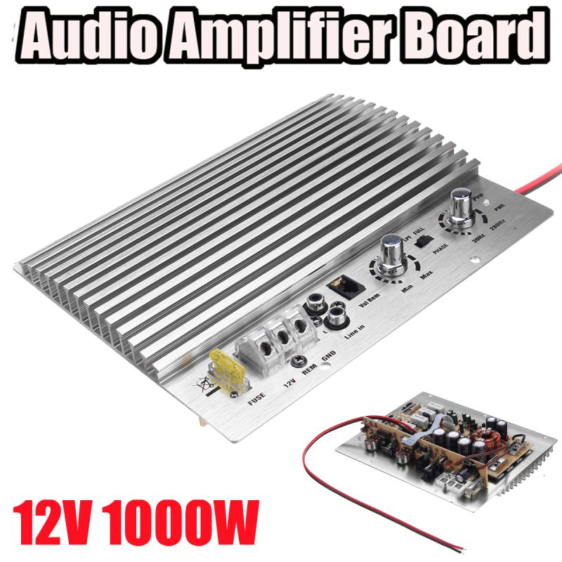 12V 1000W Mono Car Audio High Power Amplifier Board Powerful Bass Subwoofer Amp 213mmx173mm