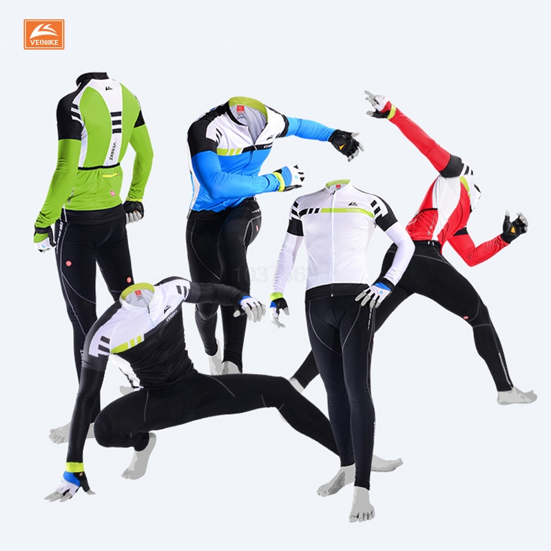 VEOBIKE 2017 Cycling Jersey Sets Long Sleeve Mountain Bike Clothes Wear Maillot Ropa Ciclismo Quick Dry Racing Bicycle Clothing veobike winter thermal brand pro team cycling jersey set long sleeve bicycle bike cloth cycle pantalones ropa ciclismo invierno