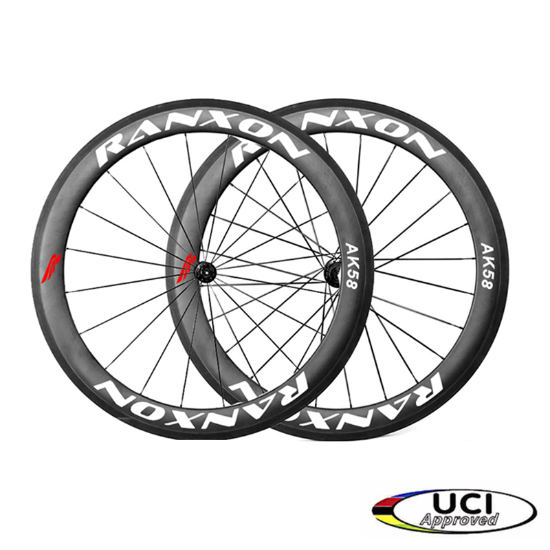Ranxon UCI Approved Racing team choose Bicycle wheelset Road Bike J-bend Hub 60mm Depth Profile Clincher Carbon wheels стоимость