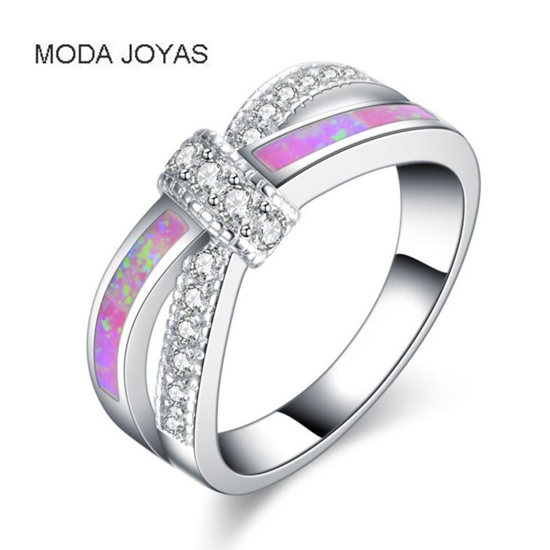 Mystic Rainbow Fire Opal Rings For Women Lady Silver colour Filled Wedding Party Engagement Love Ring Anel Valentines Day