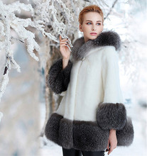 Newest Winter Wholesale Korean Style Faux Mink Fur Coat Covered Button Flare Sleeve Thick Warm Fur Outerwear XHSD-246