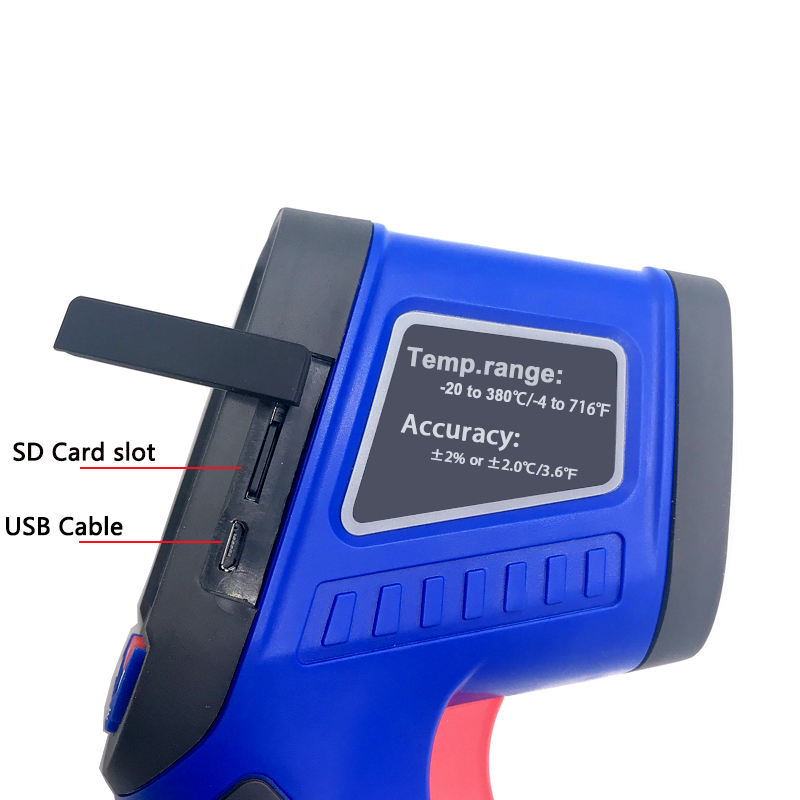 Thermal Imaging Camera In LCD Display With BLUE Background For Testing 3