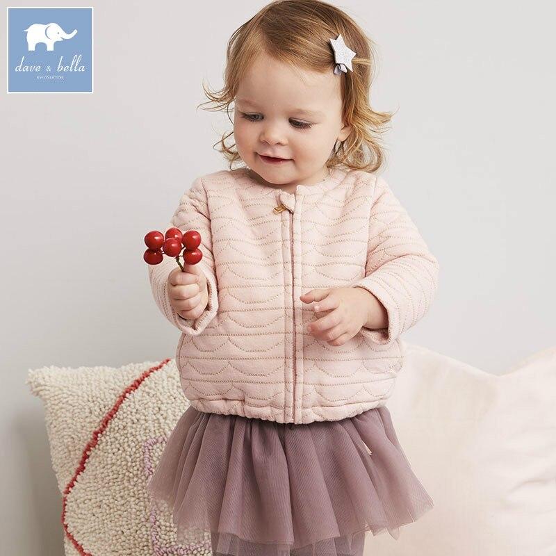 DB5597 dave bella autumn infant baby girls fashion pink coats kids toddler warm tops lolvely children clothes бритва браун 1508 тип 5597