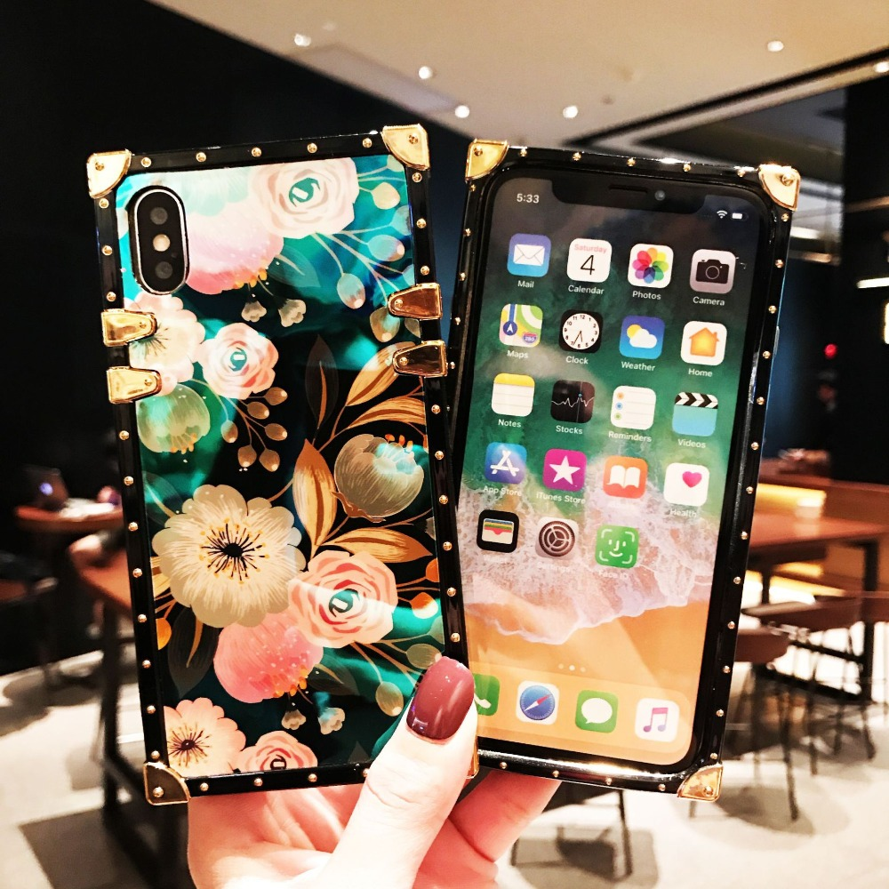 For Samsung S20 Ultra A71 A51 Note10 Plus S20+ A70 A50 A750 Note 9 8 S10 Plus A30 M30 M20 Cases Square Blue Ray Rose Stand Cover