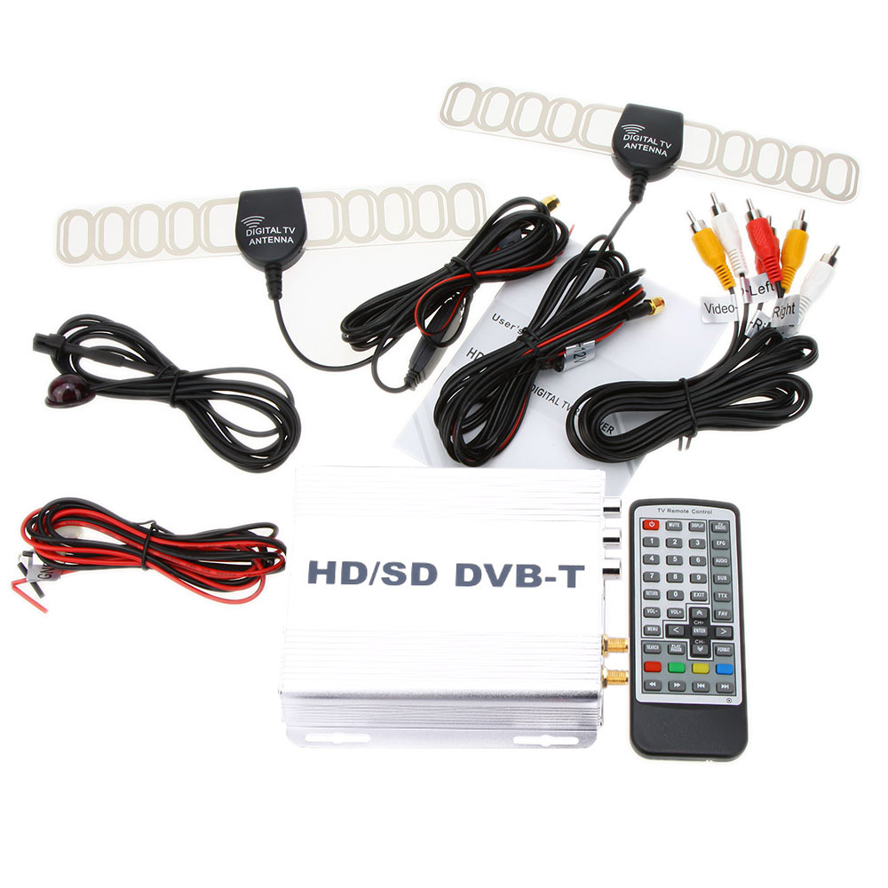 Car Digital TV Box DVB-T Various Channel Mobile Mini TV Analog Tuner High Speed 240km/h Strong Signal Receiver for Car Monitor  60km h 1080p car dvb t2 mobile digital tv tuner receiver box for russian colombia one seg free shipping