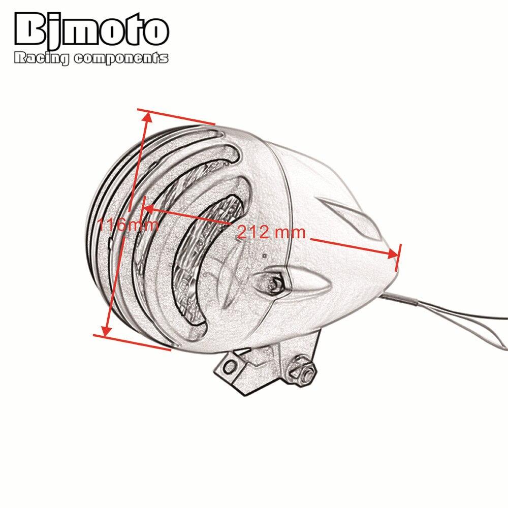 Bjmoto Motorcycle Led Bullet Headlight For Harley Custom Old School Bobber Softail Wiring Diagram Cruiser Chopper Models M10 10mm Threaded Head Lamp On Alibaba
