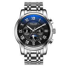 SOLLEN Mens Watches Top Brand Luxury Full Steel Automatic Mechanical Men Watch Classic Male Clocks High Quality Watch