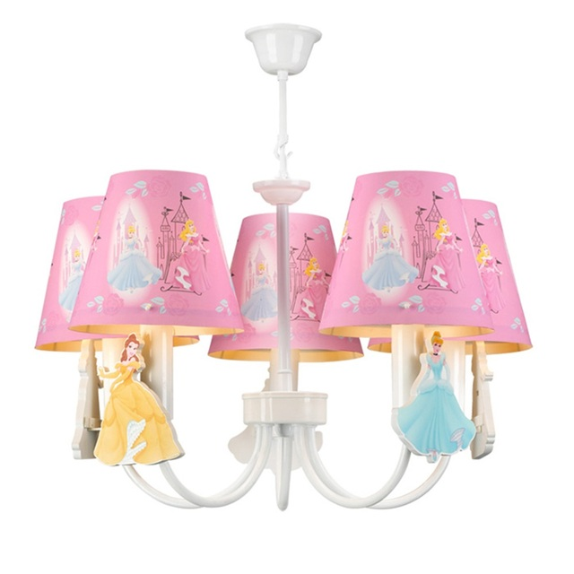 Kids Room Led Pink Chandelier Light E14 Chinese Chandeliers Lamps Home Lighting Modern Staircase