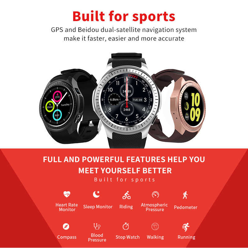 0bb0c2c7c ... Microwear L1 Smart watch Phone Bluetooth GPS 2G WIFI Heart Rate  Measurement Pedometer Sleep Monitor Sport ...