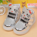 2016 LED light children boots 1 to 5 years old baby girl casual sport shoes cartoon kids sneaker newborn toddler shoes