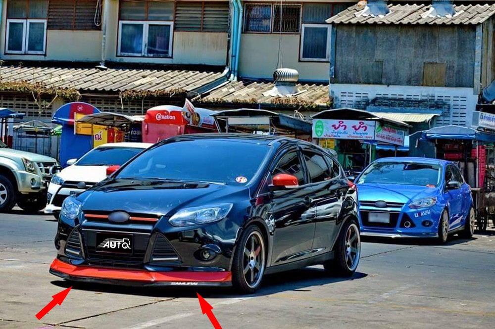 For Volkswagen Vw Golf 7 Mk Vii Estate Hatchback Body Kit Bumper Lip