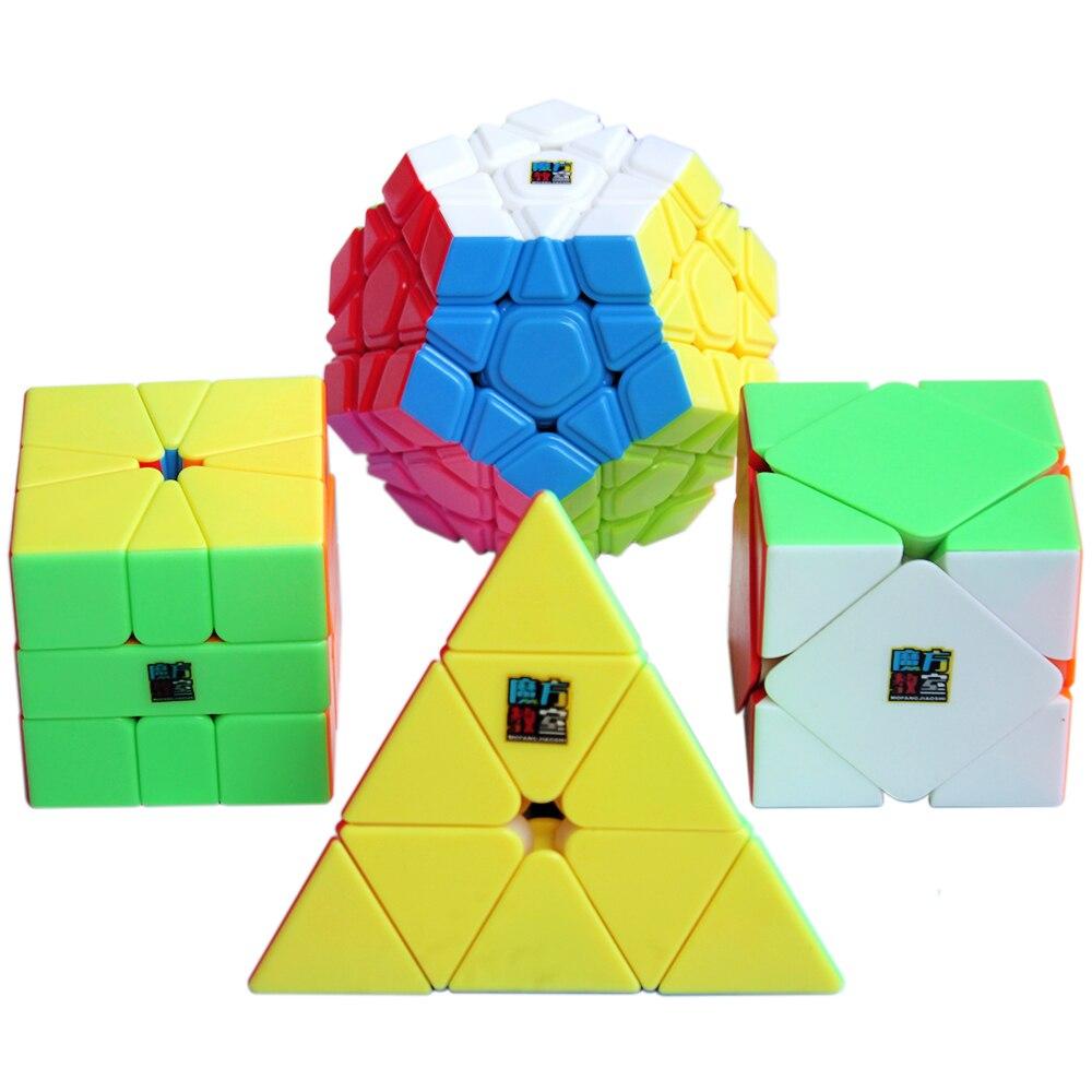 4 pièces/ensemble 3*3*3 Triangle 3x3x3x3x3 Megaminx Skew SQ1 MoYu Cube classe Puzzle Cubes magiques jouets pour enfants Cubo Megico