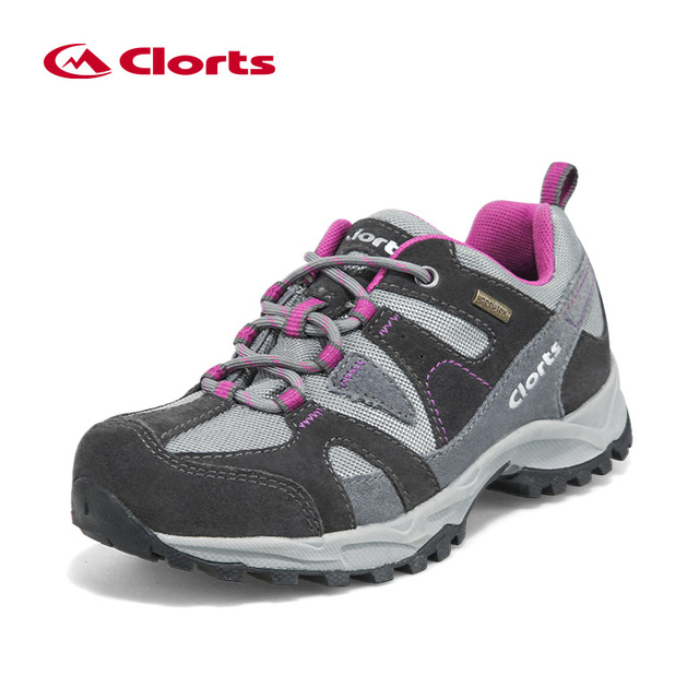 Clorts Trekking Shoes Women Outdoor Hiking Shoes Waterproof Suede Hiking Shoes Breathable Climbing Shoes HKL-828C/D
