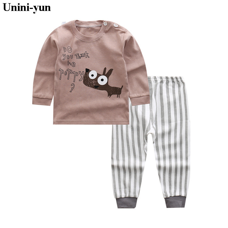 Spring Autumn Baby Boy Clothes Kids Long Sleeve t-shirt+shorts 2pcs Set Dog pattern Winter boys clothing children clothing set