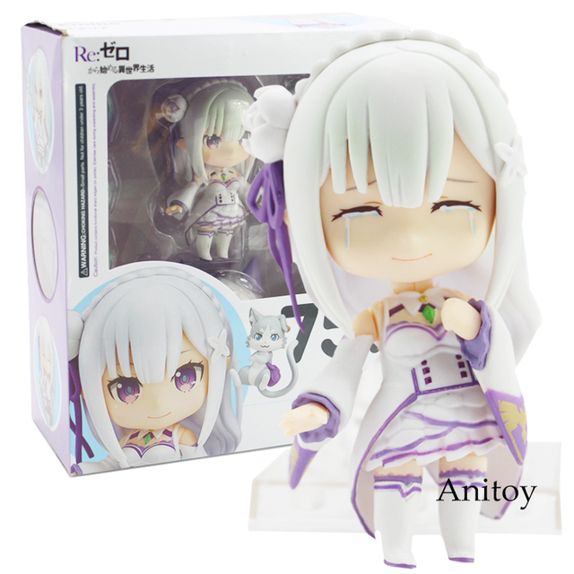 Re:Life in a different world from Zero Emilia 751 Nendoroid Emilia Doll PVC Figure Collectible Model Toy 9cm