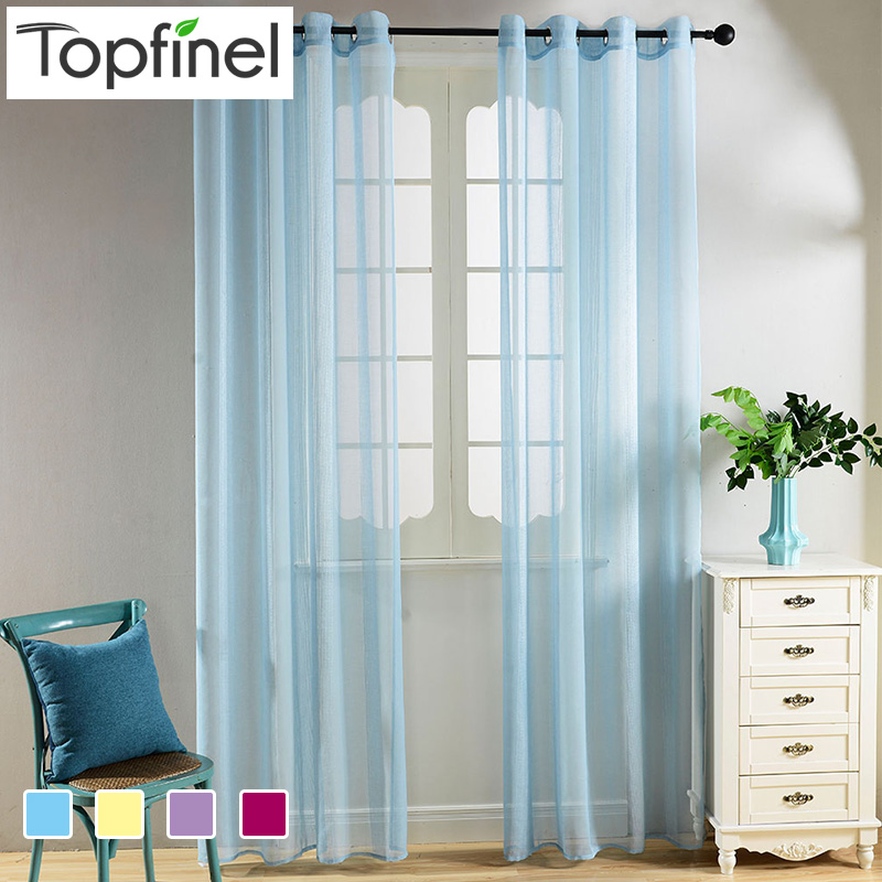 buy top finel faux voile sheer curtains. Black Bedroom Furniture Sets. Home Design Ideas