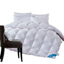 1,3~ 4,7 кг гусиный/утиный пух, одеяло для зимы/лета, белое хлопковое покрывало, одеяло, король, королева, двойной размер, быстрая