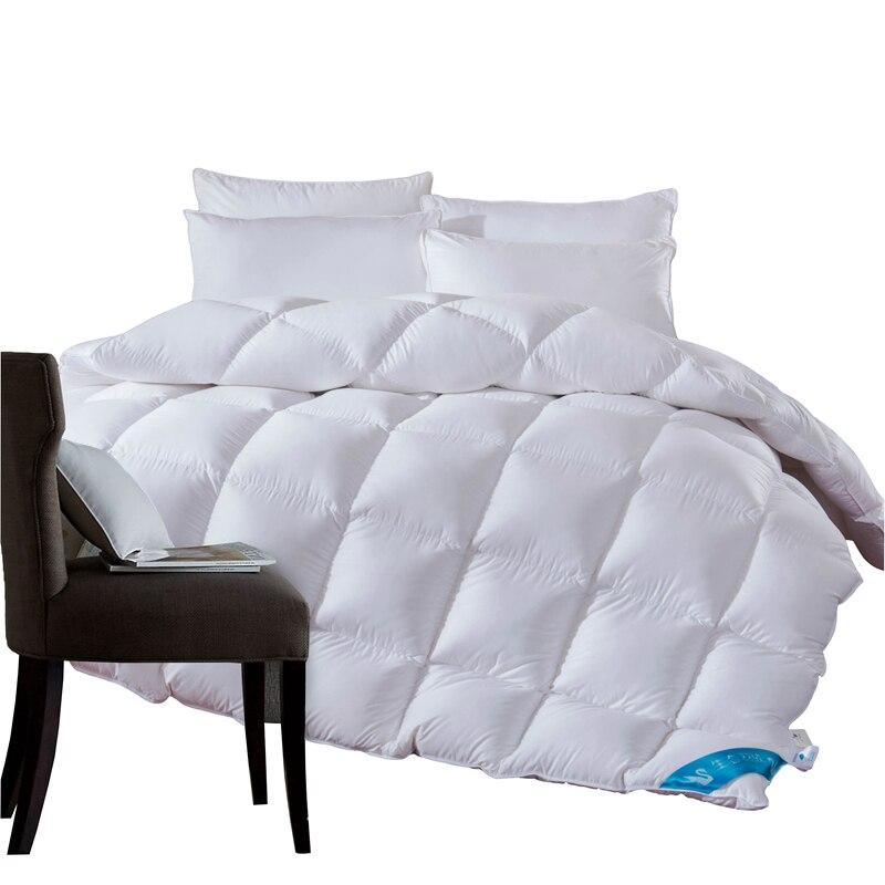 4,7 ~ 1,3 кг Гусь/утка подпушка Стёганое одеяло для зимы/Лето Белый хлопок крышка одеяло King queen Twin размеры быстрая бесплатная доставка