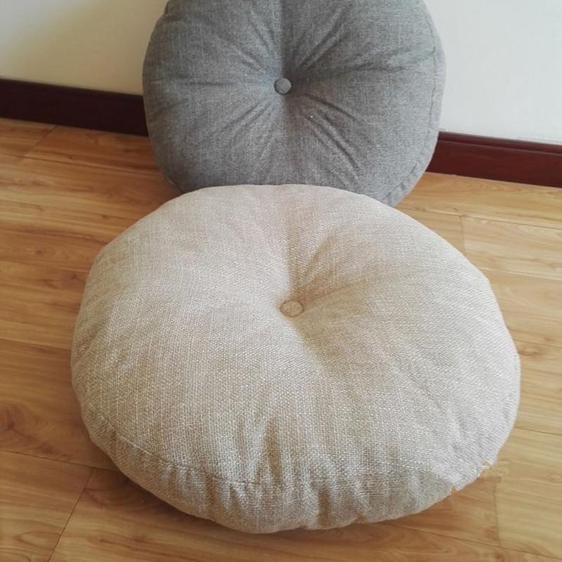 Us 15 0 21 Off Cushion Soft And Comfortable Hand Weave Cattail Cushions Meditation Cushion Handmade Straw Mat Yoga Tatami Cushions Playing In