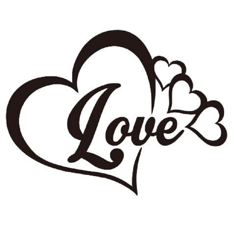 Love Heart Symbol Vinyl Decal Car Window Bumper Sticker For Family Forever Pvc Self Adhesive Decorate Accessories