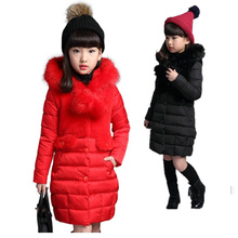 цены Children Girls Winter Cotton Warm Coat Cotton-padded Jacket Clothes Winter Jacket With Fur Hoodies Teenager Girl Outerwear 5-12Y