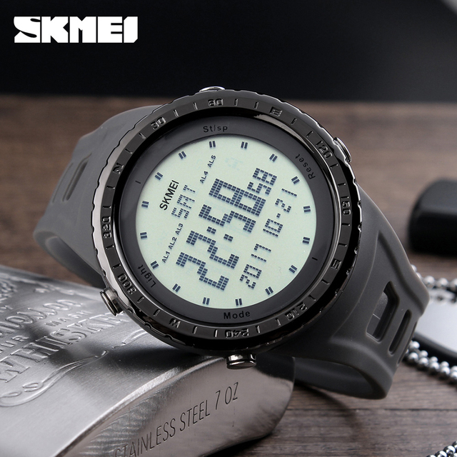 SKMEI Men Outdoor Sports Watches Relojes Man Clock LED Digital Electronics Wristwatches 50m Waterproof Relogio Masculino 1246
