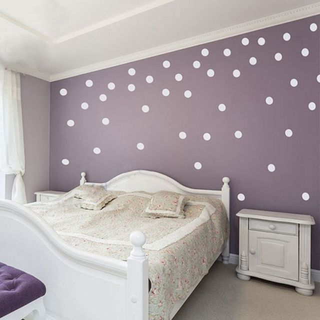 Free Shipping Polka Dot Wall Stickers Home Decor. Polka Dot Art Wall Decals    Circle