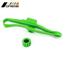 Зеленый направляющая цепи гуад и звездочки для KAWASAKI KXF250 KXF450 KXF 250 450 2009 2010 2011 2012 2013 09-16