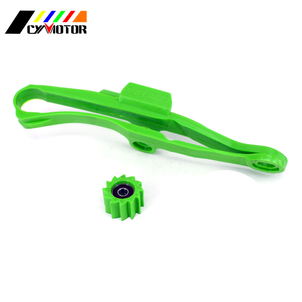 Green Chain Guide Guad And Sprocket For KAWASAKI KXF250 KXF450 KXF 250 450 2009 2010 2011 2012 2013 2014 2015 2016 09 16|Covers & Ornamental Mouldings| |  - title=