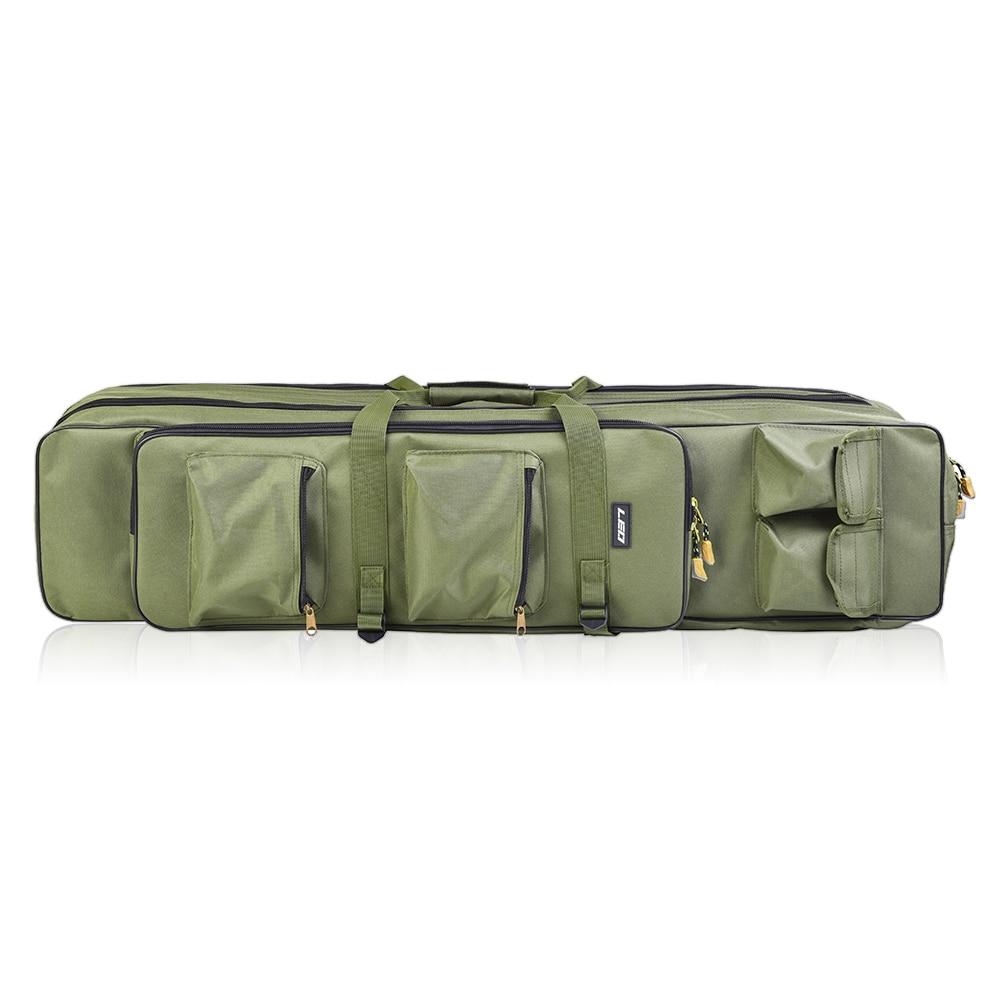 Sac de pêche 3 couches pêche pliable Oxford tissu canne à pêche sac canne à pêche couverture sacs de rangement