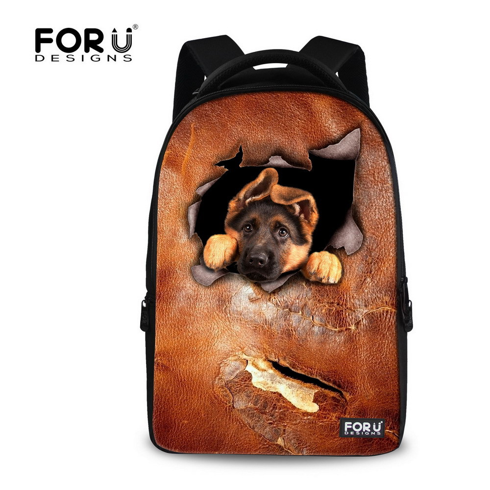 New 3D Animal Dog Cat Printing Children School Backpack 17inch Student School Bag Casual Men's Backpack Laptop Bagpack Mochila forudesigns casual backpack for women men large cute animal cat dog printing college student school backpack laptop bags mochila