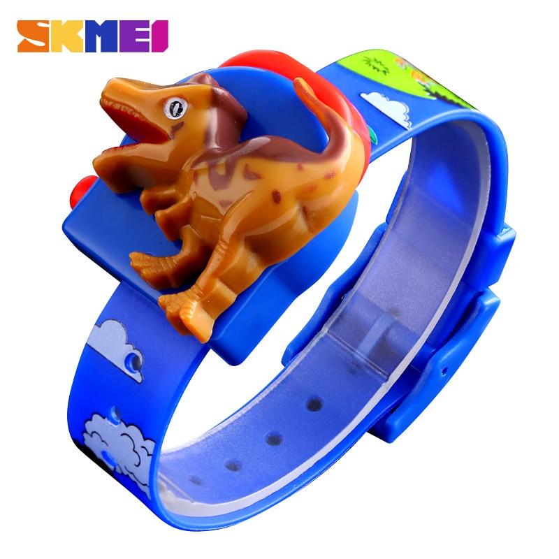 SKMEI Interesting Kids Watches Fashion Children Watch Creative Dinosaur Model Boys And Girls Love Montre Enfan 1468 Red Blue