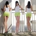 Hot Sexy Sheer Tight Lápiz Linda Falda Opacidad Micro Mini Falda Mujeres de la Fantasía Erótica Disfraces Ropas