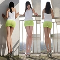 Hot Sexy Sheer Tight Pencil Cute Skirt See Through Micro Mini Skirt Women Fantasy Erotic Costumes Clothings