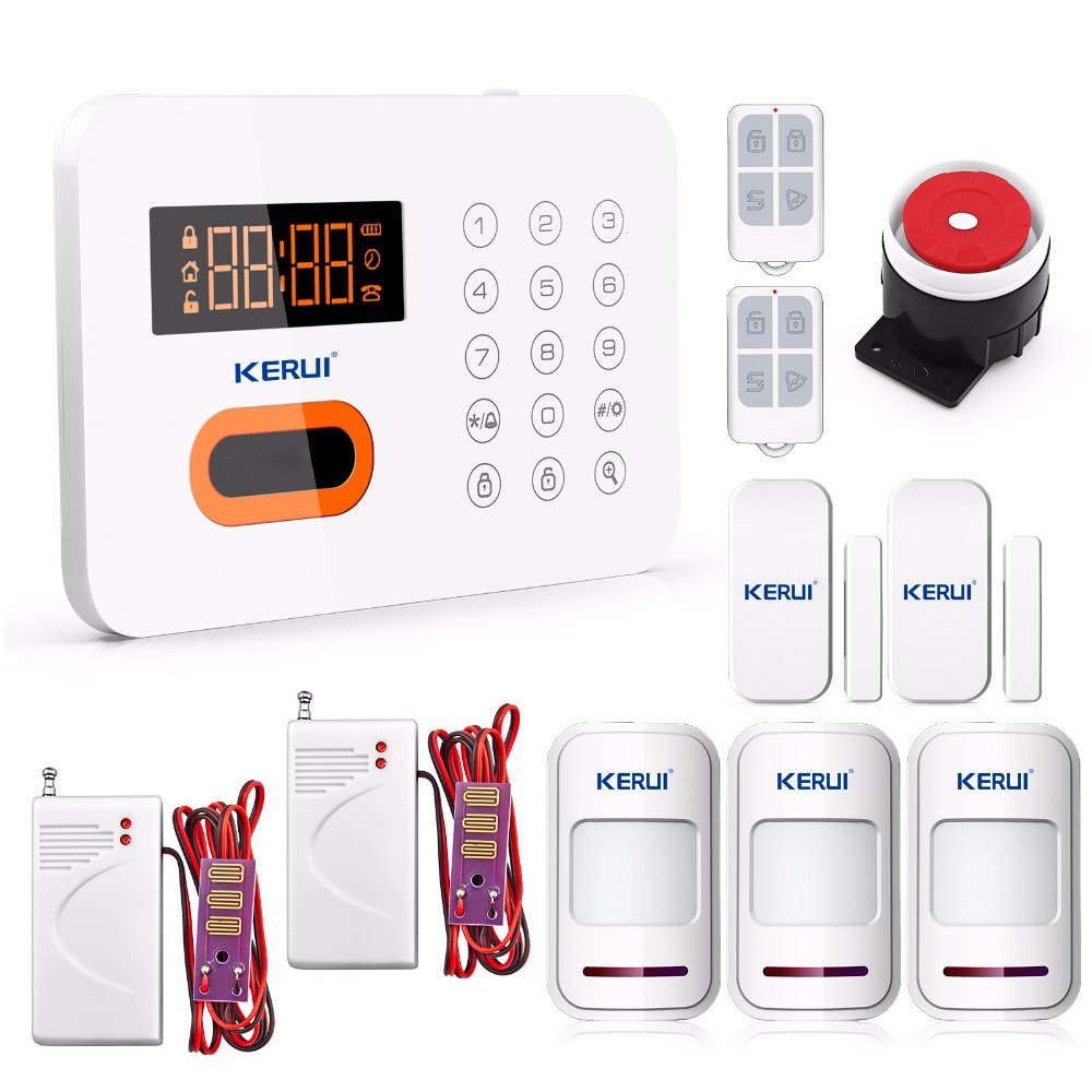 ФОТО KR-X1 Keypad Burglar Wireless alarm  Security Home alarm system Landline PSTN Touch Multiple Language with 2 Water Leak Detector