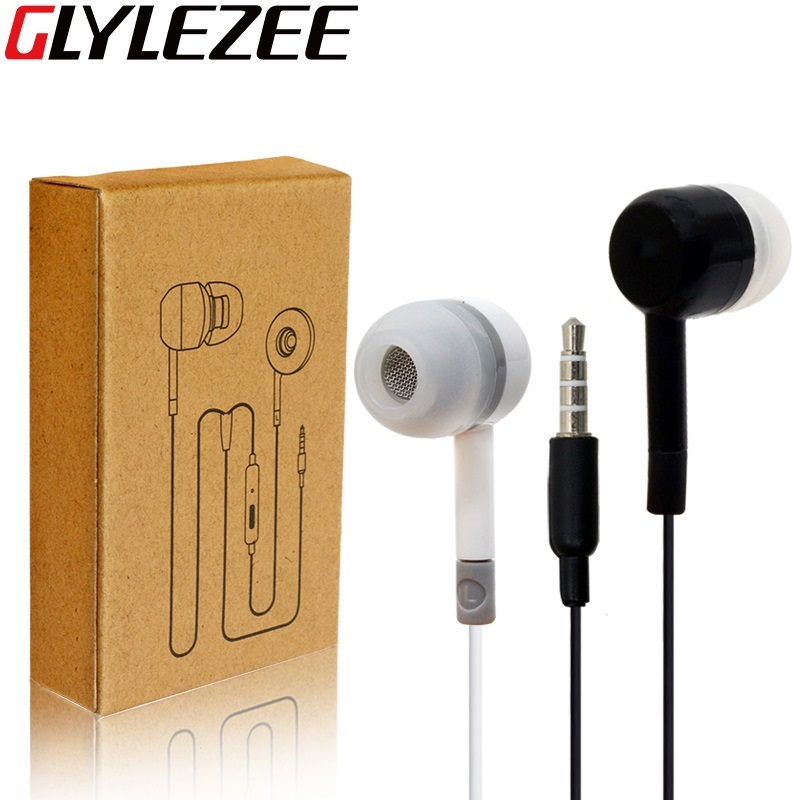 Glylezee for Xiaomi Earphone Headset Noise Cancelling Microphone Earpieces for Cellphone MP3 Music Player with Retail Box