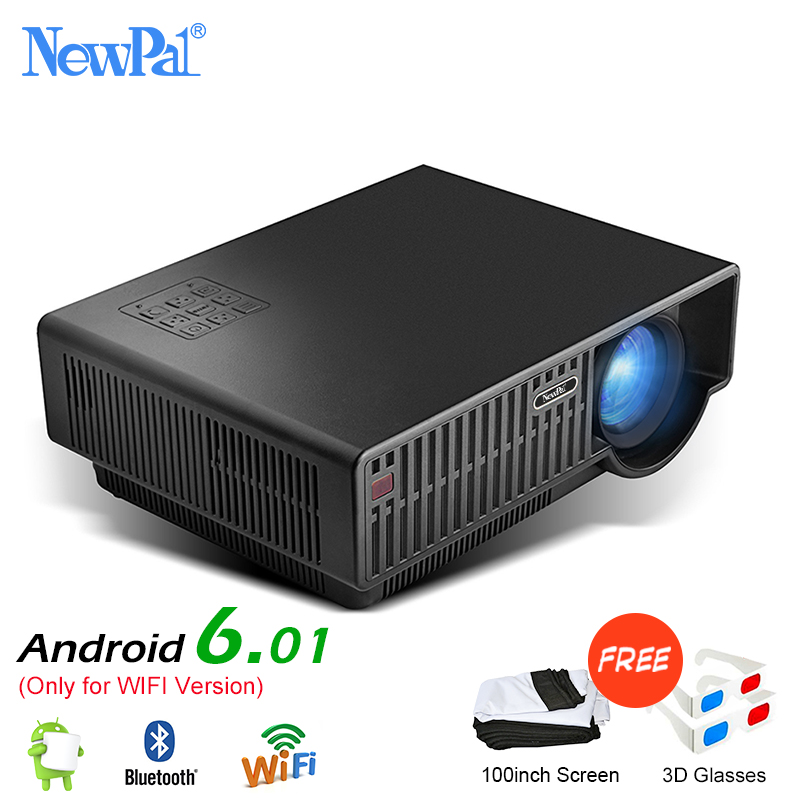 Newpal LED Projector C90 UP 5000Lumen 1920x1080p Android 6.01 Full HD 4K Home Theater Beamer Support Airplay Miracast Proyector newpal dlp projector full hd video mini 3d projector android 7 0 portable beamer support wifi miracast airplay dlna tf tv
