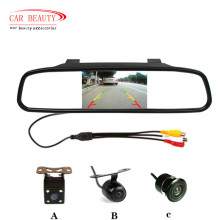 Car Parking Assistance System with 4.3 Digital TFT in LCD Mirror and Auto Rear view Camera