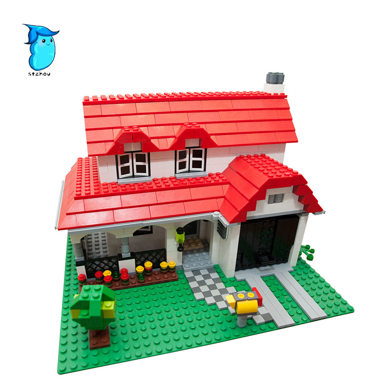 StZhou 761pc Lepin Creative Series Castle the American Style House DIY Set Model Building Blocks Bricks Children Toys Gift Lepin a toy a dream lepin 24027 city series 3 in 1 building series american style house villa building blocks 4956 brick toys