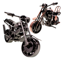 RUNBAZEF Wrought Iron Motorcycle Model Decoration Decor Vintage Home Decor  Miniature Accessories Kawaii Figurine