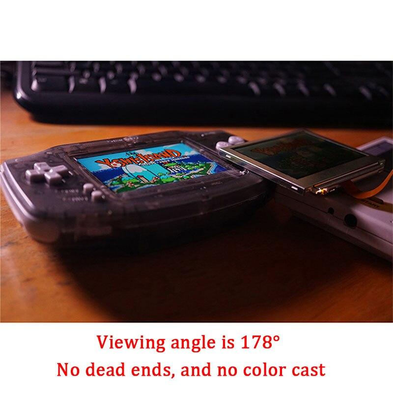 Kits de reemplazo de pantalla LCD V2 para retroiluminación Nintend GBA pantalla lcd de 10 niveles de alto brillo pantalla IPS LCD V2 para consola GBA - 4