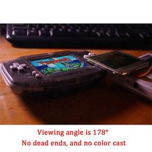 Image 4 - LCD V2 ekran değiştirme kitleri nintendo GBA arkadan aydınlatmalı lcd ekran 10 seviyeleri yüksek parlaklık IPS LCD V2 ekran için GBA konsol
