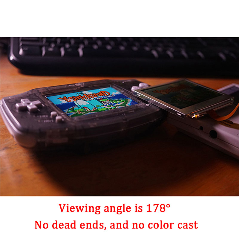 Remplacement d'écran LCD pour le rétro-éclairage GBA de l'intention kits de mod d'écran lcd 10 niveaux écran LCD IPS haute luminosité pour Console GBA - 4