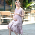Fashion Summer Halter Maxi Maternity Dress Cotton Pregnant Dresses Large Size Maternity Women Clothes