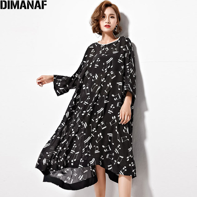 Black batwing dress print
