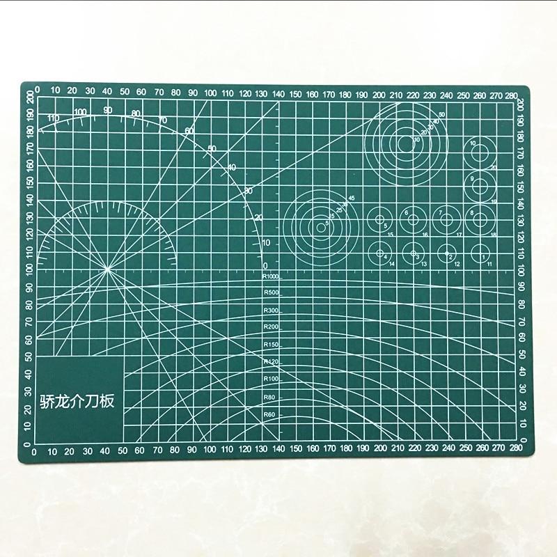 Mat za rezanje PVC A3 / A4 / A5 trpežen samozdravilni rez za lopatice Orodja za nanašanje DIY dodatna rezalna plošča temno zelena gravura