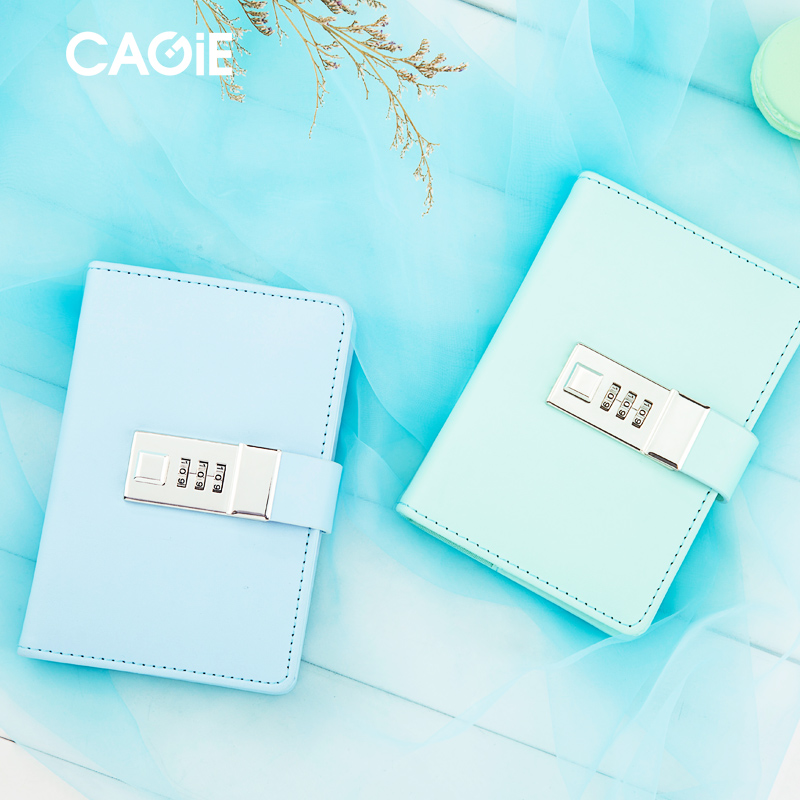 Mini Notebook Cagie Diary with Lock a7 Planner Leather Journal Travelers Notebooks and Journals Sketchbook Pocket Filofax notebook filofax mini
